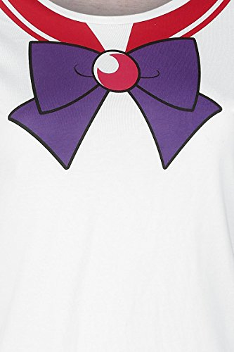 blanco Abystyle Moon Marte marinero mujer Sailor camiseta blanco qq7pw14v