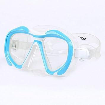 Adulto Snorkeling máscara de buceo con lente de miopía de buceo y hipermetropía lentes de vidrio