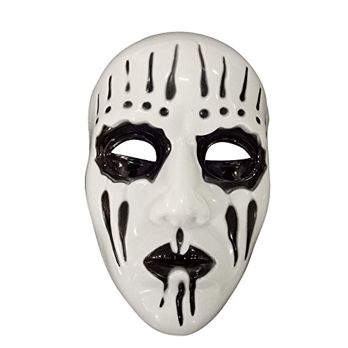 Spring fever Deluxe Fashion Cosplay Disgusting Face PVC Mask Halloween Masquerade party Accessory Slipknot Joey Mask One Size (Joey Mask)