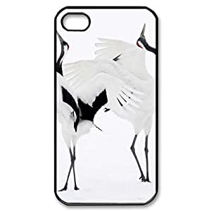 ALICASE Diy Customized hard Case Red crowned Crane For iPhone 5 5s [Pattern-1]