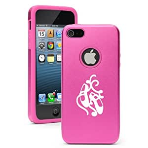 Apple iPhone 5 5S Hot Pink 5D6617 Aluminum & Silicone Case Cover Ballet Dance Shoes