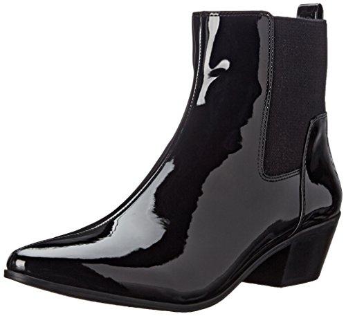 Nine West Women's Travers Synthetic Boot, Black/Black, 10 M - Boots Nine West Uk