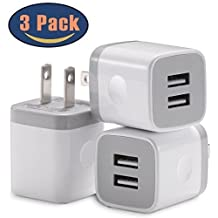 Apple Original 5W Wall Charger / Adapter Cube for all iPhones, iPods and iPads including iPhone Models 4/4s/5/5c/5s/6/6s/7/7s/8/8s/X - 3 Pack (Value Bundle)