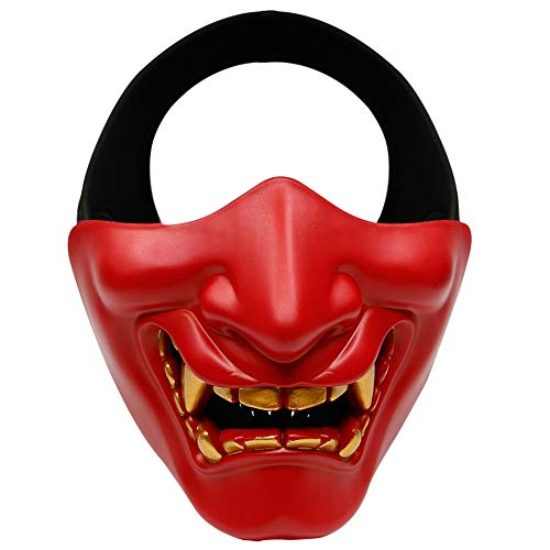 Leoie Unisex Evil Smile Tactical TPU Half Face