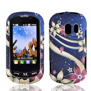 LG Extravert Vn271 An271 Un271 Accessory - Floral Galaxy Hard Case Proctor Cover + Free Lf Stylus Pen
