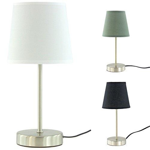 Design Tischleuchte Ø ca. 14 cm, Höhe ca. 32 cm, Stoffschirm