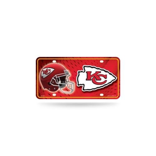 NFL Kansas City Chiefs Metal License Plate Tag