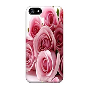 Defender Case For Iphone 5/5S Cover, Rose Pattern