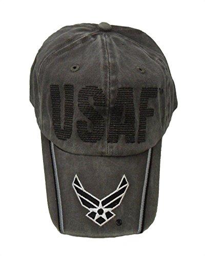 KYS USAF Running Stitch w/Logo Stone Washed Cap