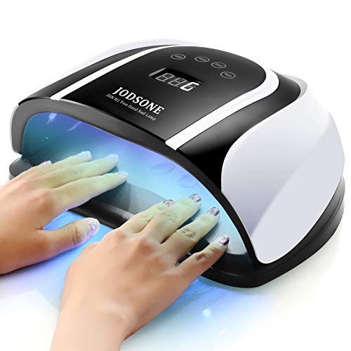 JODSONE 120W UV LED Nail Lamp for Two Hand, Led Nail Light for Gel Nails with 54 Pcs Light Bead, Gel Nail Lamp Quick Curing Nail Gel Polish, Nail Dryer Suitable Salon and Home Use,Black