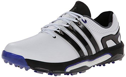 adidas Men's Asym LH Energy Boost Golf Shoe, Running White/Core Black/Night Flash, 9 M US