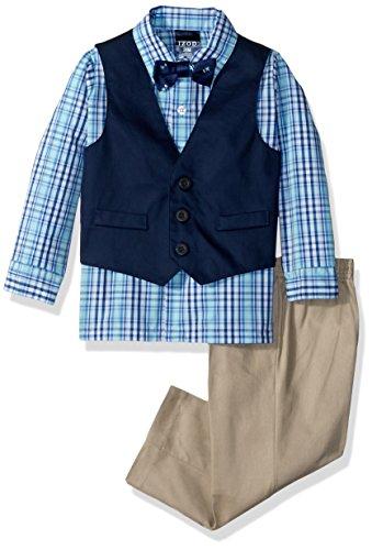 Baby Boys Oxford Blue Pants - IZOD Baby Boys Four Piece Formal Vest Set, Nafpak Blue, 12 Month