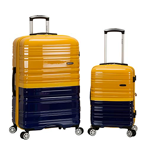 Rockland Melbourne 2pc Expandable Hardside Luggage Set - Navy/Yellow