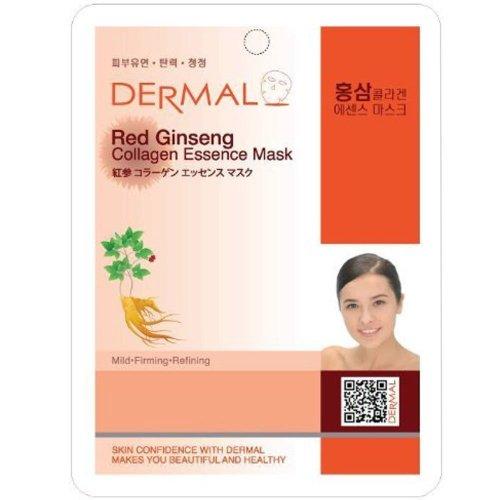 Corée du collagène dermique Essence masque facial visage Fiche - ginseng rouge (10 Pack)