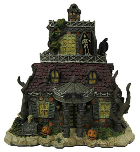 Hawthorne Village Universal Studios Munsters Collection Gateman,Goodbury and Graves Funeral Home Collectible Halloween House Display -