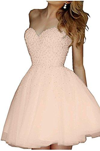mia Cocktailkleider La Gruen Kurz Abendkleider A Abiballkleider Braut Prinzess Olive Pfirsisch Ballkleider Elegant Herzausschnitt Linie Mini Swqn1vwFd