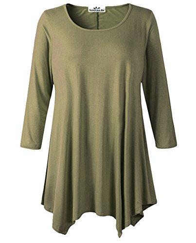 Zerdocean Womens Modal Sleeve Tunic