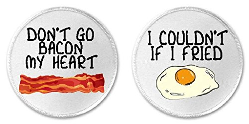 Fried Bacon (Set of 2 Don't Go Bacon Heart Couldn't If I Fried Eggs 3