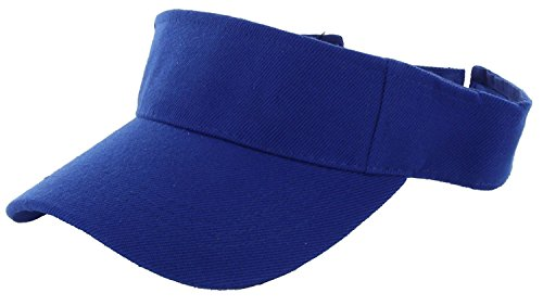 LA Gen Sales Plain Men Women Sport Outdoor Sun Visor Adjustable Cap (Royal (Blue Team Visor)