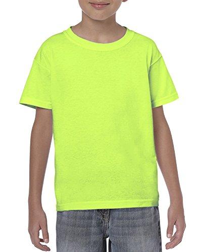 By Gildan Youth 53 Oz T-Shirt - Neon Green - XS - (Style # G500B - Original Label)