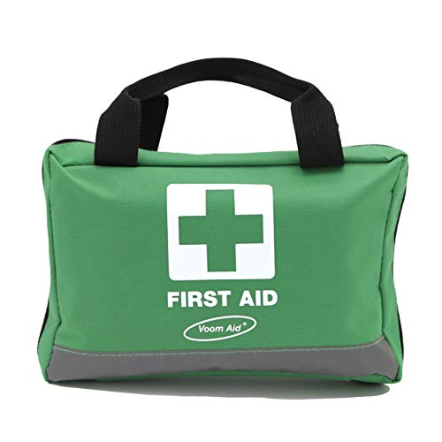90 Piece Compact Premium First Aid Kit with Reflective Bag – Includes Eyewash, Ice Packs & Emergency Blanket – Ideal for Home, Office, Outdoor, Sports, Hiking, Car, Boat, Caravan, Workplace & Travel.