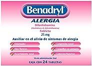 BENADRYL Antihistamínico 24 Tabletas 270 Mg