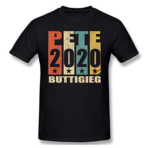(Madison Pete Buttigieg 2020 Boot Edge Edge Pete LGBT Buttigieg for President Print Short Sleeve Funny Shirt for Men and Women Black)