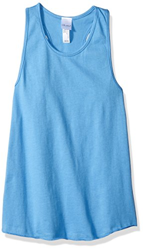 Carolina Tank - Clementine Big Girls Relaxed Racerback Premium Jersey Tank, Carolina Blue, L