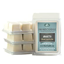 Amaretto 3-Pack Scented Soy Melts from Skore Candle. 18 Cubes made with pure, natural soy wax. Wax warmer required. Infuse fragrance in your home now!