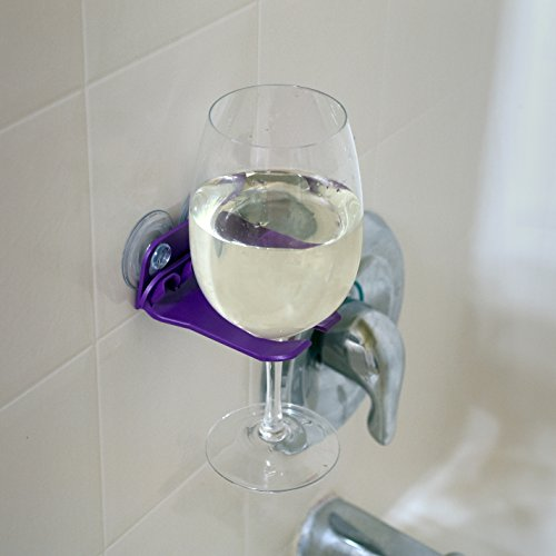 Wavehooks bathtub wine glass holder purple import it all for Purple glass bathtub