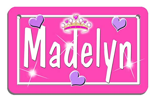 Tiara Bicycle License Plate Personalize Any Name & Color Gifts 2.75
