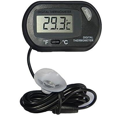 ZHJZ - Termómetro Digital para Acuario, Acuario, Acuario, Acuario (Negro)
