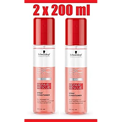 Schwarzkopf 2 x Bonacure Repair Rescue Spray Acondicionador cada 200 ml = 400 ml