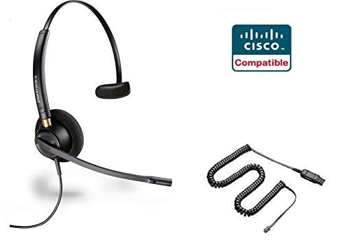 Cisco Certified Plantronics HW510 EncorePro 510 Noise Canceling Headset Bundle for Cisco 69xx, 78xx, 79xx, 89xx, 99xx Series