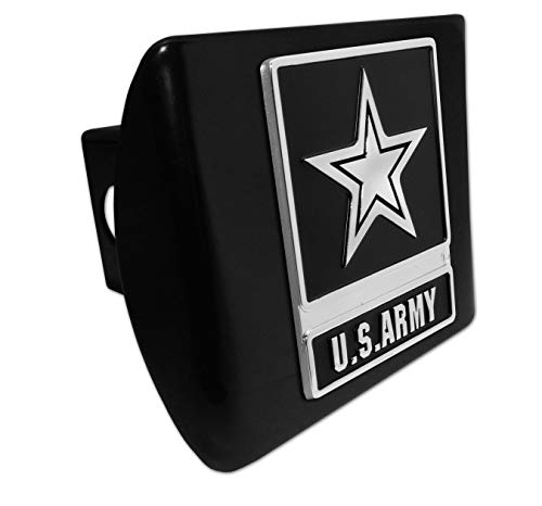 - Elektroplate U.S. Army Star Black Metal Hitch Cover