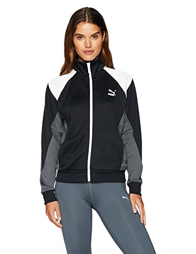 PUMA Women's Retro Track Jacket, Black, L