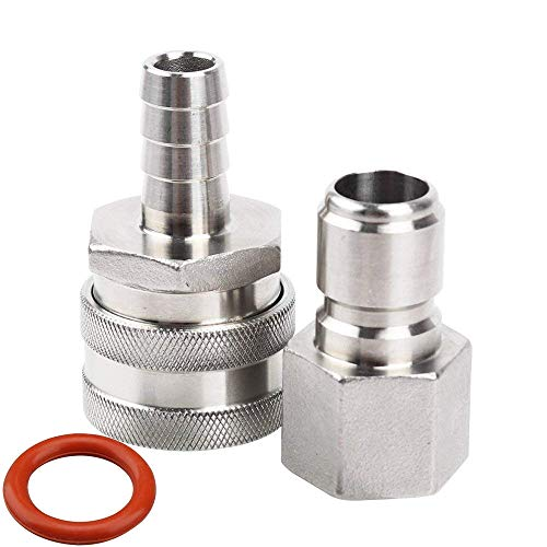 MRbrew Quick Disconnect 304 Stainless Steel Set 1/2