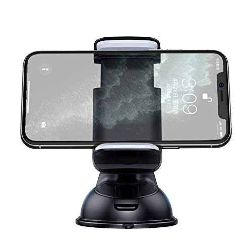 Cell Phone Holder for Car, Universal Car Phone Mount Dashboard Windshield 360° Rotation Compatible with All Phones