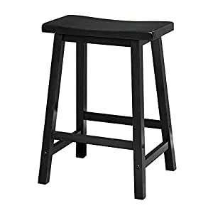 Tremendous Winsome 20084 Satori Stool 24 Black Gmtry Best Dining Table And Chair Ideas Images Gmtryco