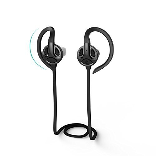ATEX 4.1 Bluetooth Headphones - Smart Noise Cancellation & Built-In Microphone - Wireless In-Ear Earbuds for Sports & CrossFit - Sweat Proof, Non-Slip - iPhone and Samsung All Latest Models Compatible