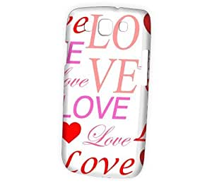 Case Fun Samsung Galaxy S3 (I9300) Case - Vogue Version - 3D Full Wrap - White Lots of Love