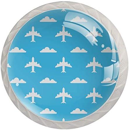 Lade Knoppen Ronde Kast Handgrepen Trek voor Home Office Keuken Dressoir Garderobe DecorateVliegtuig Achtergrond Vector Illustratie