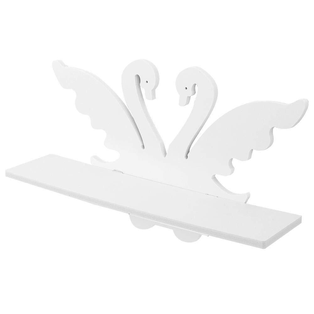AUNMAS Estante de Almacenamiento Estantes de Pared Flotante en Forma de Cisne Blanco Organizador de Ahorro de Espacio para el hogar Montado en la Pared decoraci/ón para el hogar