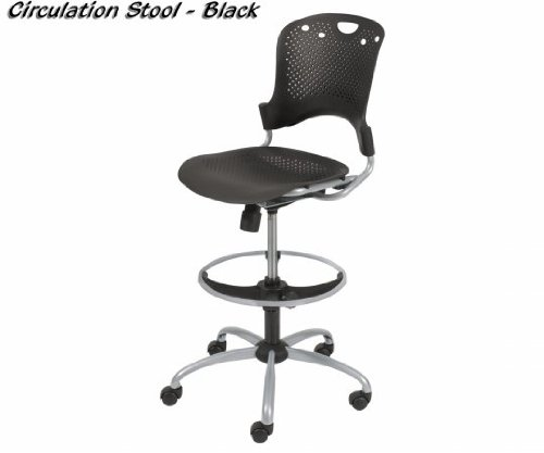 Balt 34643 Steel Circulation Task Stool - Black by Balt
