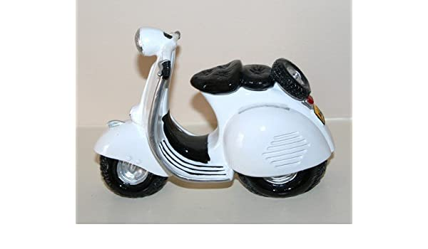 Blanco Vespa patinete medidor de nivel de gasolina: Amazon ...