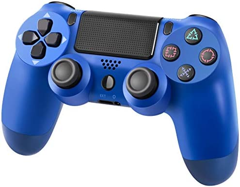 PS4 Controller Wireless Gamepad for PS4/Pro/Slim, Gamepad Joystick with Dual Vibration/six-axis gyro Sensor/Audio Jack/Speaker/LED Indicator/USB Cable