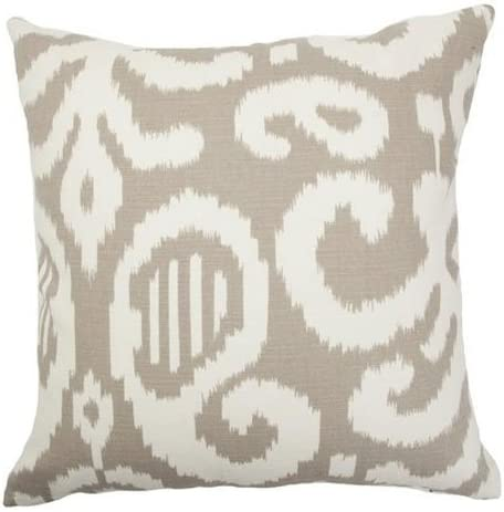 The Pillow Collection Hohenems Ikat Bedding Sham Lime Standard//20 x 26