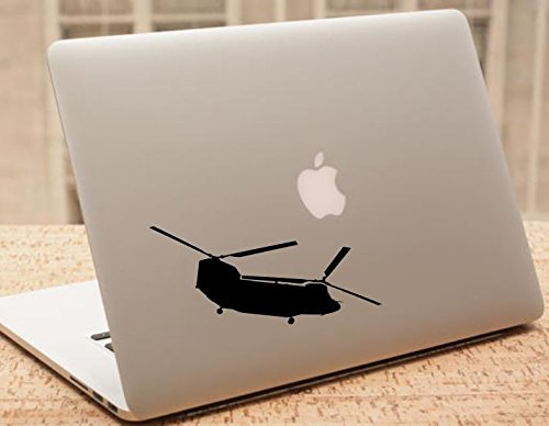 Decal - Helicopter - Chinook Helicopter Silhouette Vinyl Decal - Military Car Decal - H12 (4