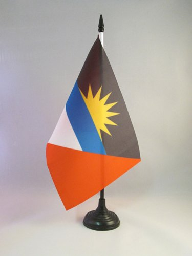 AZ FLAG TISCHFLAGGE Antigua UND Barbuda 21x14cm - Antigua and Barbuda TISCHFAHNE 14 x 21 cm - Flaggen