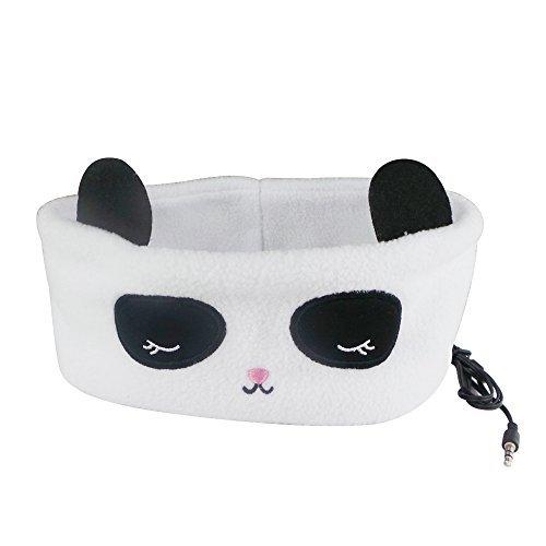 SVENMARK, SLEEP HEADPHONES, (Panda) Polar Fleece, Thin Padded Speaker, Travel, Meditation, Jogging, Work Out,